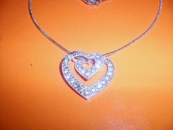 Szív a szívben kr. Nepáli ezüst nyaklánc