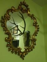 Hatalmas meseszép faragott antik tükör
