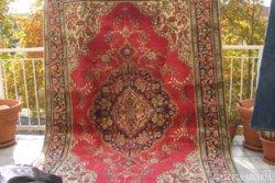 Extrém ritka  luxus,fantasztikasan szép színvilágú Barokk Kézicsomózású perzsaszőnyeg orig. Irán!