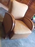 Remek formájú art deco fotel 30-as évekből