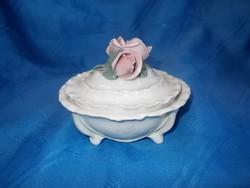 Régi német ENS porcelán bonbonier
