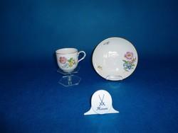 Meisseni kávés csésze  aljjal eredeti