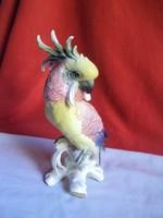 Hibátlan. ENS gyönyörű,kézzel festett Kakadu porcelán figura