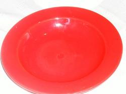 Német  piros mély tányér  22 cm