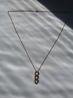 Jelzett arany nyaklánc + medál