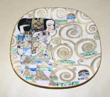 Gustav Klimt porcelán jelzett falitányér