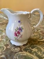 Barokk Zsolnay ritka virág mintájú tej kiöntő teás készlethez