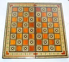 Intarziás fa sakktábla