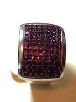 Komoly mutatós tömör ezüst gyűrű