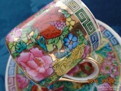 """Jingdezhen""""Ezer virág"""" mintás kínai mokkás készlet"""