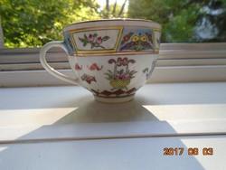 JINGDEZHEN Kézzel festett aranyozott Pillangó,gyümölcs,virág mintákkal díszített kínai csésze