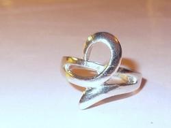 ART Deco modernista Nemesacél uniszex Gyűrű 19-es