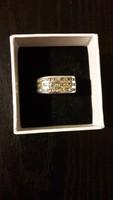 Női ezüst gyűrű citrinnel