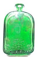 Régi díszes zöld parfümös üveg