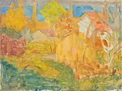 Vidéky Brigitta ( 1911- )Tihany belső tó tájkép c.olajfestménye 80x60cm eredeti GARANCIÁVAL !!!