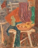 Vidéky Brigitta ( 1911- ) csendélet c.olajfestménye 60x50cm eredeti GARANCIÁVAL !!!