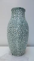Gorka stílusú, zsűrizett nagy kerámia váza