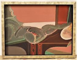 Benedek György (1934-) Csendélet c. Képcsarnokos olajfestménye 86x66cm Eredeti Garanciával
