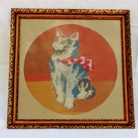 Cica masnival gobelin kép