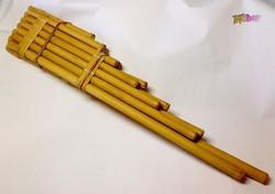 Két oktávos hosszú pánsíp bambuszból, Kétsoros diatonikus egyenes.