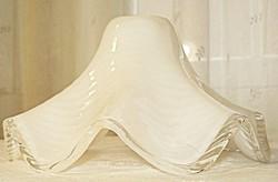Retro, fodros-hullámos, kétrétegű üveg lámpabúra