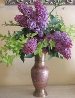 Cizellált színes réz váza 30 cm magas