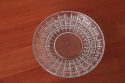 Üveg kínáló tálka