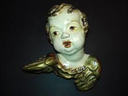 Michael Wittmann Wien 1920 / 1930-as évek kerámia puttó angyal falidísz