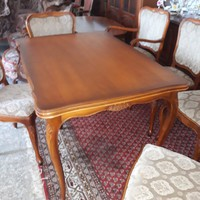 Warrings étkezőasztal ,kinyitható 6 székkel amiből 2 karosszék