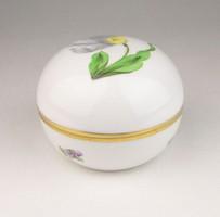 0R053 Tulipánmintás Herendi porcelán bonbonier
