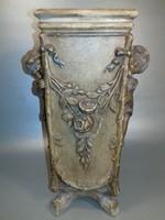 Bernard Bloch - Ausztria antik Art Nouveau terrakotta kerámia kaspó virágtartó váza jelzett
