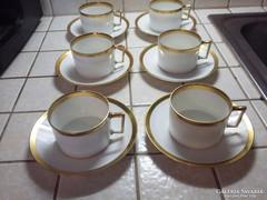 Antik 6 személyes nemesi ét- és teáskészlet