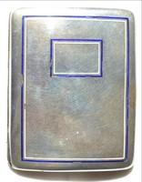Tűzzománc ezüst tárca