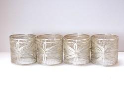 Filigrán ezüst szalvétagyűrűk.