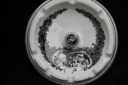 Hollóházi Jurcsák porcelán hamutál