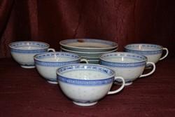 5 személyes kínai rizsmintás teás készlet  ( DBZ 0015 )