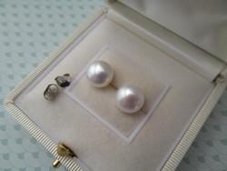Tenyésztett gyöngy fülbevaló stekker - ezüst - új