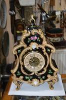Hollóházi porcelán asztali óra