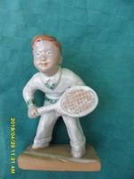 Ritka Izsépy teniszező fiú figura