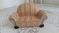 Kerámia baba kanapé eladó!Játék kanapé
