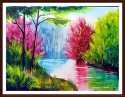 Czinóber - Mesél a folyó ( 30 x 40 )