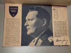UNIKUM !!! WW2 Kalendár 1941 - a Harmadik Birodalom vezetőinek fényképével és faksimile szignójával
