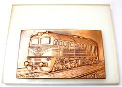 MÁV M62-062 mozdony plakett