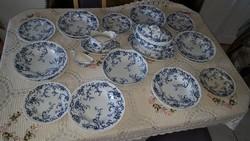 Antik angol Cauldon fajansz étkészlet 6 főre