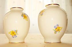 Drasche porcelán apró virágmintás kisvázák