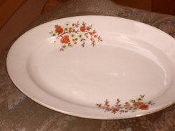 Antik számos ovális kínáló tányér 36 cm