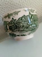 A régi vidéki Anglia képeivel  zöld teáscsésze