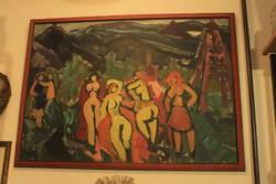 Németh Miklós festmény: Aktok a szabadban