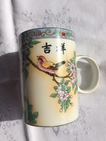 Kinai teás bögre 11cm magas.