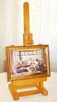 Miniatűr festőállvány, fotó vagy kisméretű festmény számára